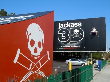 Jackass 3D crashed jet ski billboard